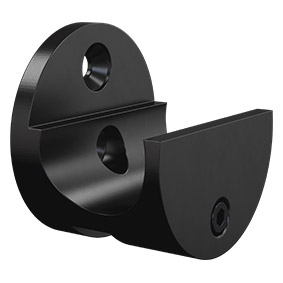 NOR-RCW-B Wall Mount Rail Clamp - Matt Black