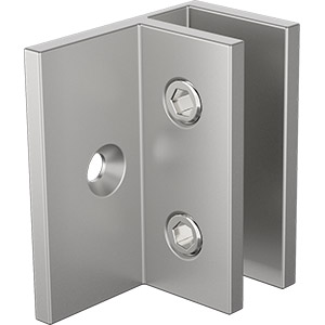 P-PEARL-WB-O Square Edge Wall Bracket Offset - Pearl Satin