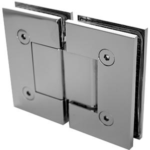 PB-HS-180 Glass to Glass 180 degree hinge - Chrome