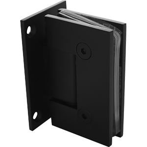 PN-H-WP Glass to Wall hinge with square edges - Black