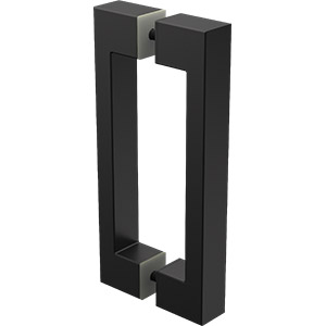 PN-HD D shape handle - 180mm high - Black
