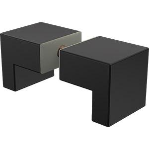 PN-KSL Square L Shaped Knob - Black