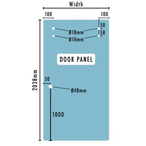 STAL Glass door panel