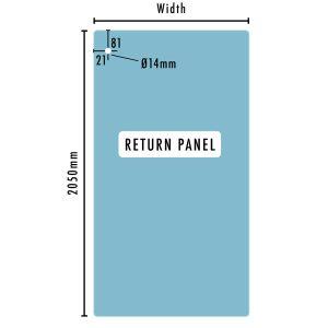 STAL Glass return panel