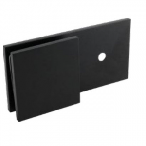 Square Wall Bracket Inline Offset - Matt Black