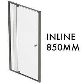 TLX-I-0850 1950mm x 850mm Inline Pivot Door w/ fixed panel
