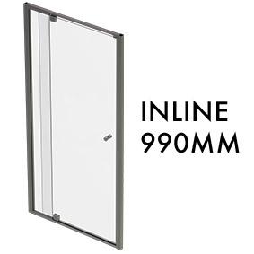 TLX-I-0990 1950mm x 990mm Inline Pivot Door w/ fixed panel