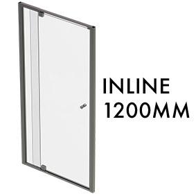 TLX-I-1200 1950mm x 1200mm Inline Pivot Door w/ fixed panel