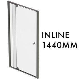 TLX-I-1440 1950mm x 1440mm Inline Pivot Door w/ fixed panel