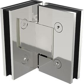 ZUR-H-90 Zurich Glass to Glass 90 degree hinge