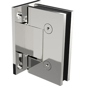 ZUR-H-WP Zurich Glass to Wall hinge with square edges