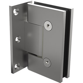 ZUR-PEARL-H-OP Zurich Glass to Offset Wall hinge - Pearl Satin