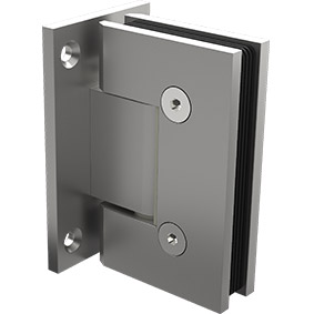 ZUR-PEARL-H-WP Zurich Glass to Wall hinge with square edges - Satin Pearl